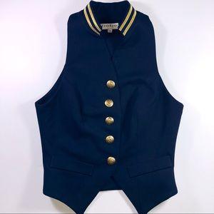 Bebe - Gold Button Vest NWOT